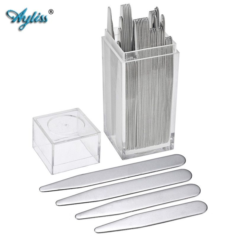 Ayliss 2-3 8 Different Sets Stainless Steel Collar Stays For BF Business Man Shirt Bone Stiffeners Inserts Father's Day Gift