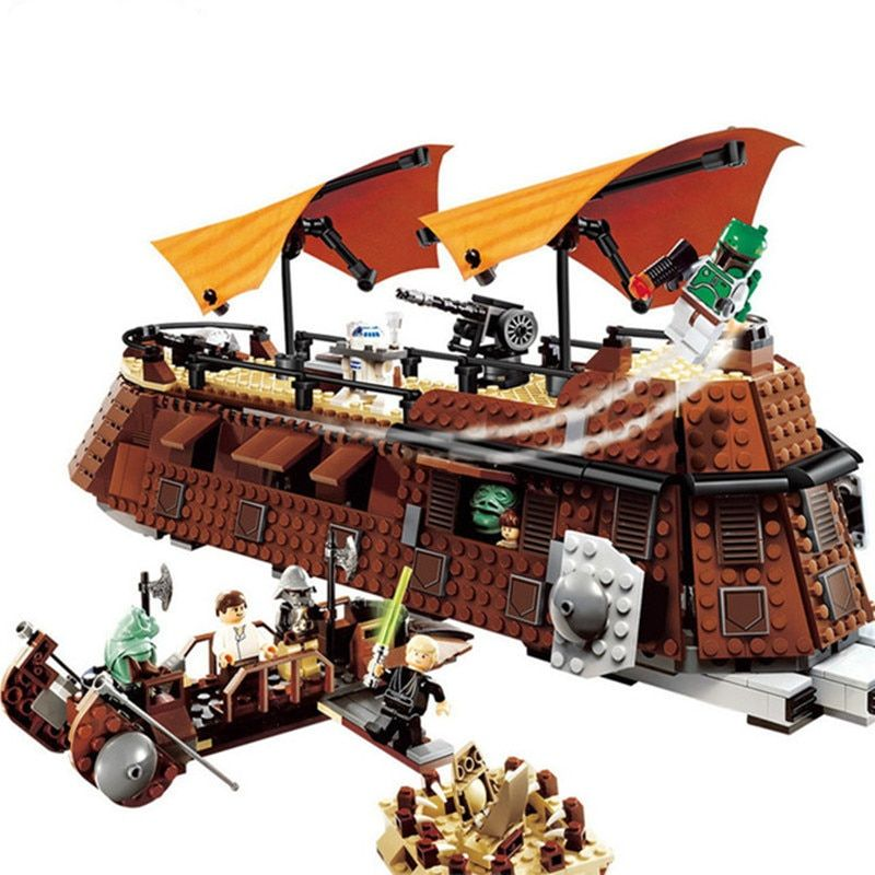 821Pcs Starwars Series Blocks Jabba's Sail Barge Assembly Building Bricks Toys Gift For Children Compatible LegoINGly Star Wars
