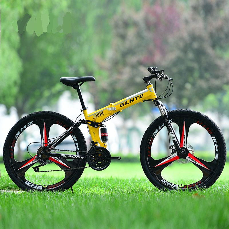 New X-Front 26 inch carbon steel damping folding bike frame mountain bicycle 27 speed disc brakes One wheel MTB bicicleta