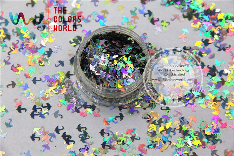 TCA100 Laser Silver Color umbrella 5MM Size Glitter dust ,Specular luster glitter for nail,tatto,Art decoration and others