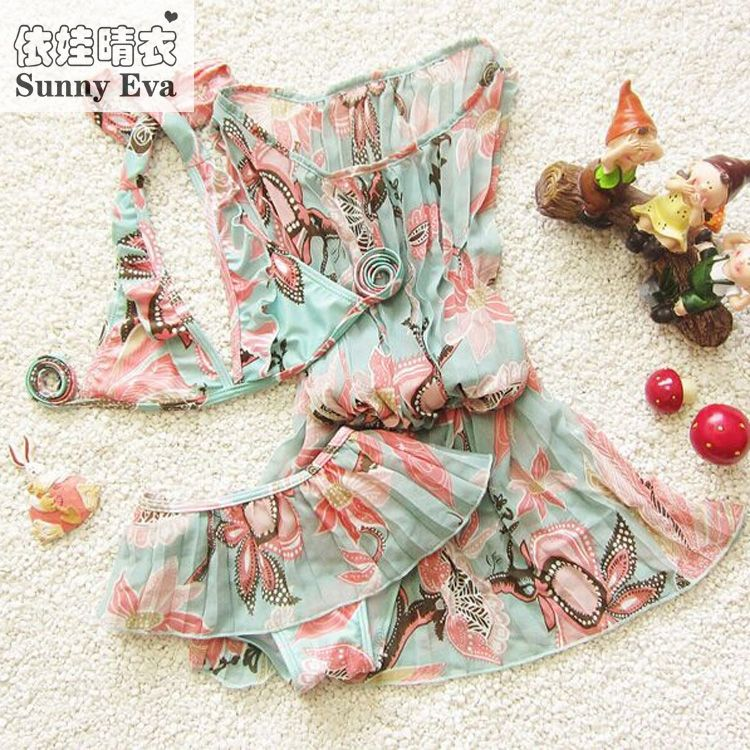 Sunny eva Children's swimsuit girls bikini swimwear 2017 3pcs/set bikini girls children baby girl swimwear bathing suit swimsuit