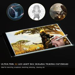 Portable A3 A4 LED Light Pad Box Drawing Tracing Tracer Copy Board Table Pad Led Light Pad Copy Board with Brightness Control