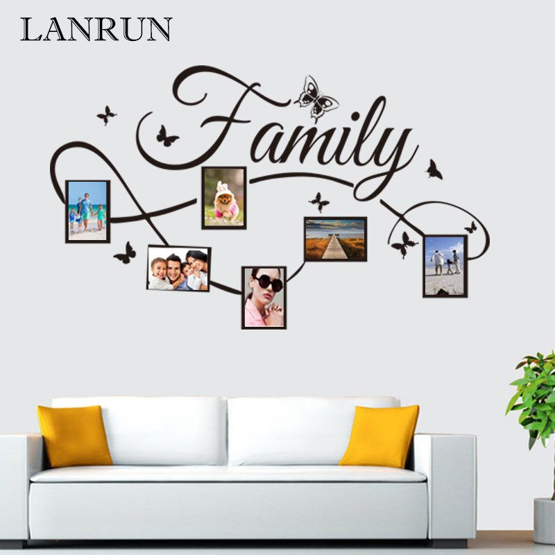 DIY Family Photo Frame Living Room Bedroom Wall Decals Poste Home Decor LANRUN KW5071 High Quality Vinyl Wall Sticker Art Decal