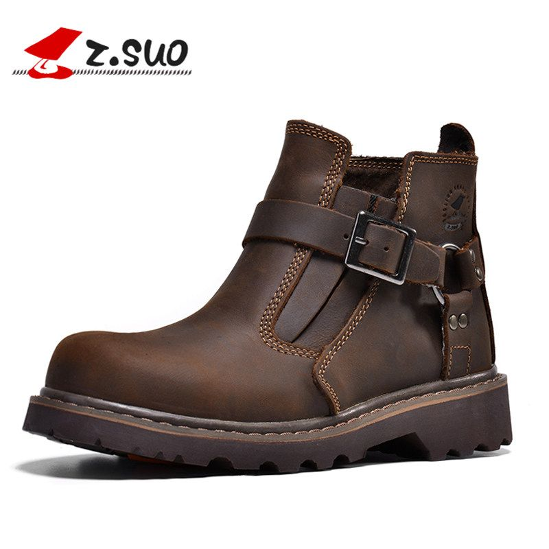 Zsuo Для мужчин's ботинки «мартенс» сумасшедший, стильный, классика, ретро, Для мужчин s туфли, пару моделей, размеры 39-44, zzs337