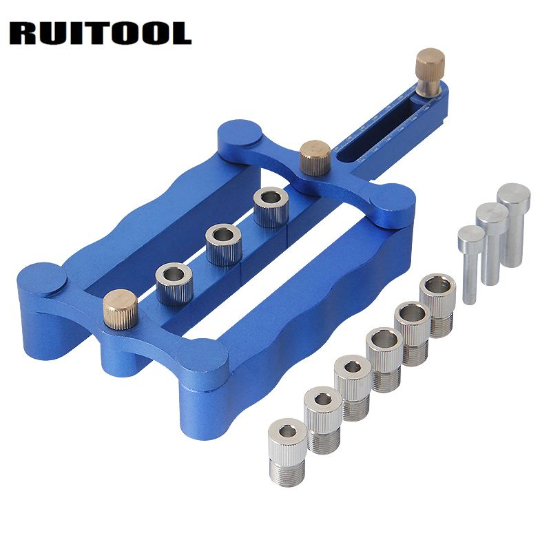RUITOOL Drilling Tools Woodworking Jig 6/8/10mm Self Centering Dowelling Jig Set Punch Locator