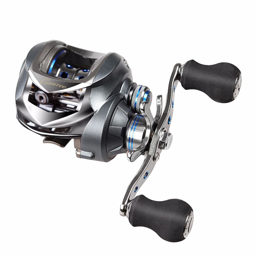 17+1BB Baitcasting Fishing Reel 7.0:1 Bait Casting Reels Left / Right Hand Reel with One Way Clutch Fish Pesca Reel Max Drag 5kg