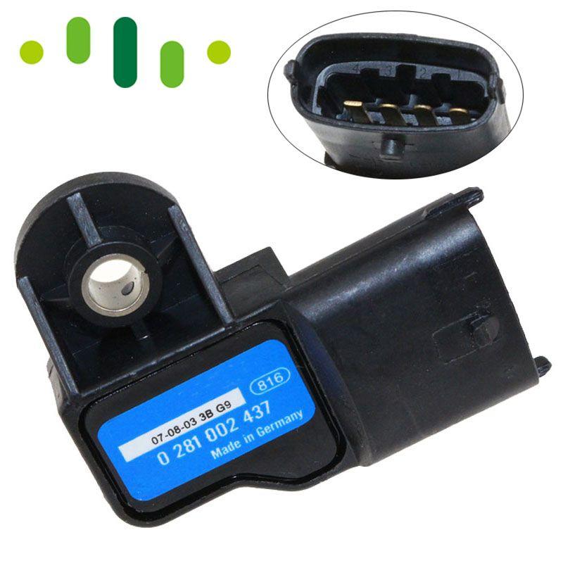 0281002437 High Quality Boost MAP Sensor For Alfa Romeo 147 156 159 166 Brera GT Giulietta Mito Spider Ford Ranger Volvo S60 V70