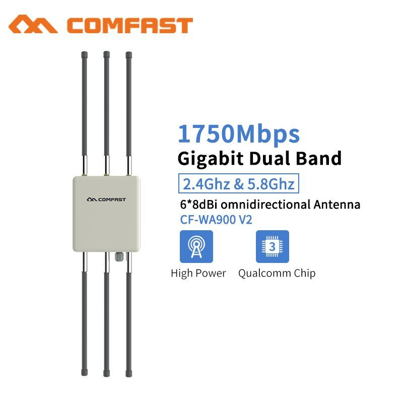 Comfast 1750 Mbps 802.11AC Gigabit Outdoor Omnidirektionale Wireless AP Router 5,8 ghz WIFI Repeate Brücke Wi fi access Antenne AP