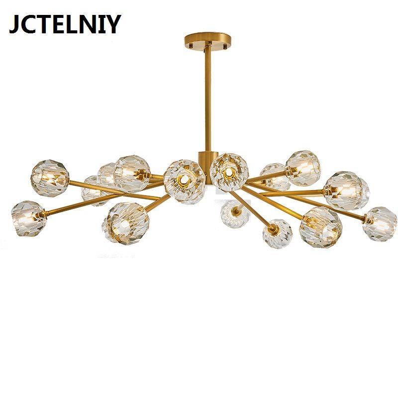 Amerikanischen kristall kronleuchter postmodernen alle kupfer kreative designer Nordic modell wohnzimmer schlafzimmer esszimmer molekulare lampe