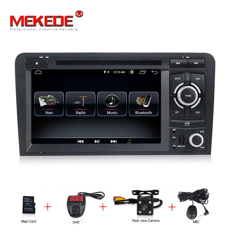 1024X600 Android 8.1 2 din auto dvd gps navigation für Audi A3 S3 2003-2013 auto radio multimedia aoturadio player touchscreen