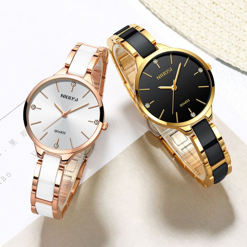 Montre NIBOSI femmes montres dames Creative femmes Bracelet en céramique montres Femme horloge Relogio Feminino Montre Femme