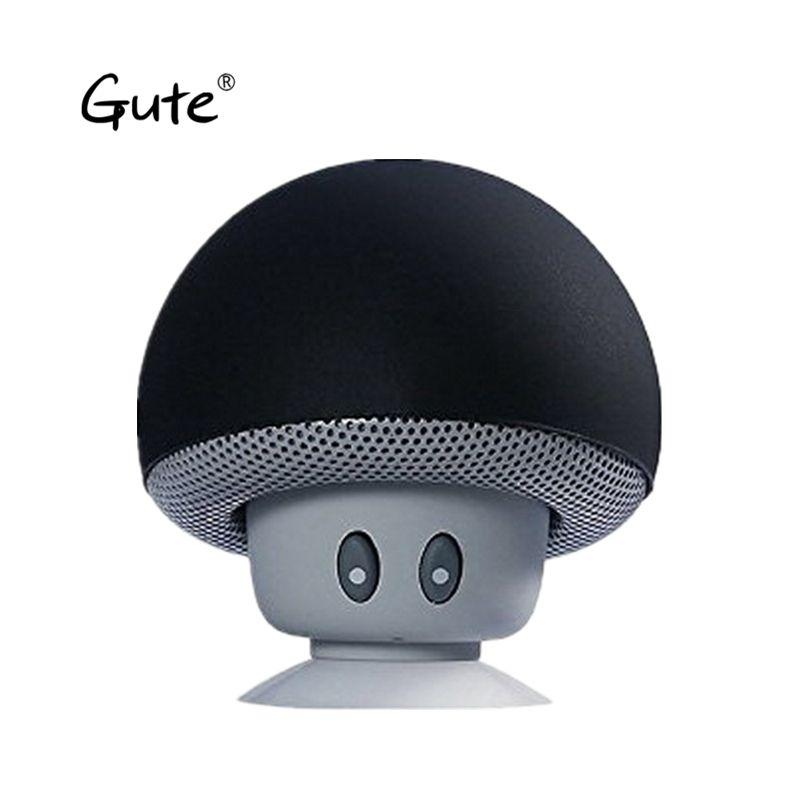 Gute 2018 hot Promotion Ultra Mini Mushroom Bluetooth Wireless Speaker sucker holder as mobile support altavoz wireless ur abe
