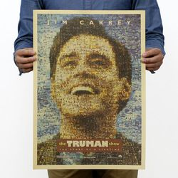 The Truman Show Vintage Kraft Paper Classic Movie Poster Magazine   Art  Cafe Bar Decoration Retro Posters and Prints