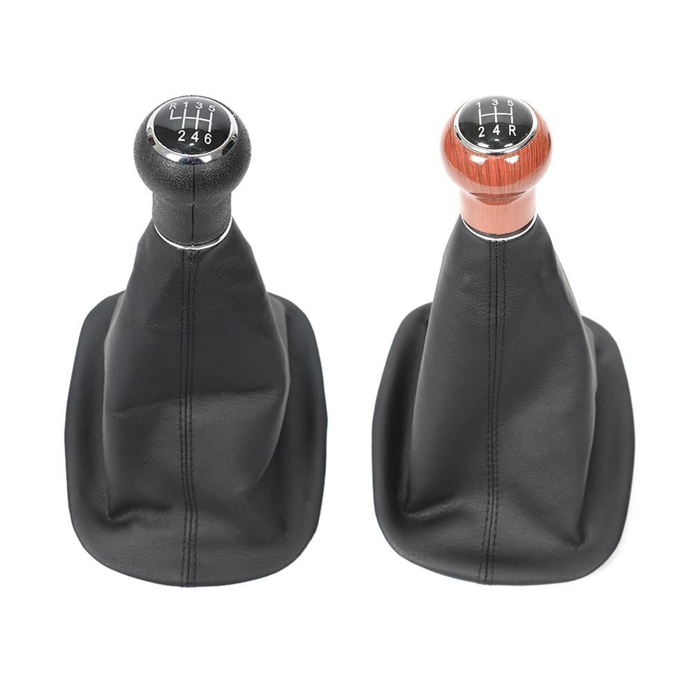 ABS PU Leather Car-styling 5 Speed 6 Speed Car Gear Shift Shifter Knob For VW /Passat B5 1998-2004 With Dustproof Cover