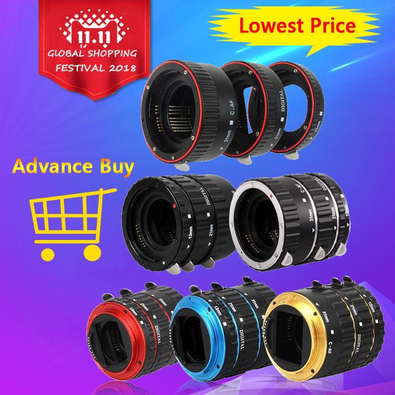 Camera Lens Adaptateur Metal Mount Autofocus AF Macro Extension Tube Anneau Pour Canon EOS EF-S Lentille 750D 80D 7D t6s 6D 7D 5D Mark IV