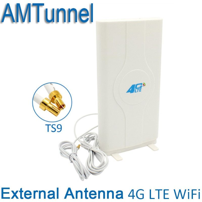 3G 4G LTE  External Panel Antenna TS9 Connector and 2 meter cable 700-2600MHz  for 3G 4G Huawei router modem