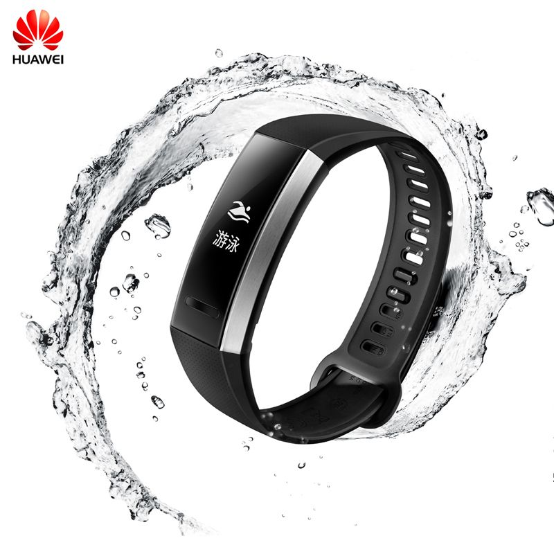 100%Original Huawei Sport Band 2 Smart Wristband Alloy Swimmable 5ATM 0.91