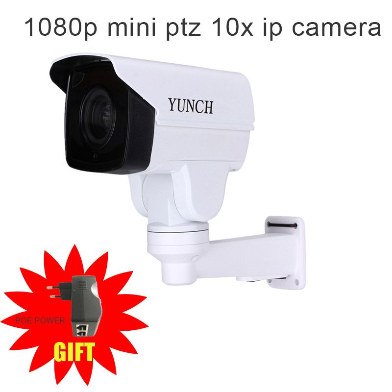 Security Rotary Bullet MINI PTZ IP Camera with Onvif 2/4MP CCTV 4/10X ZOOM IR Night for outdoor surveillance Camera h.265 POE