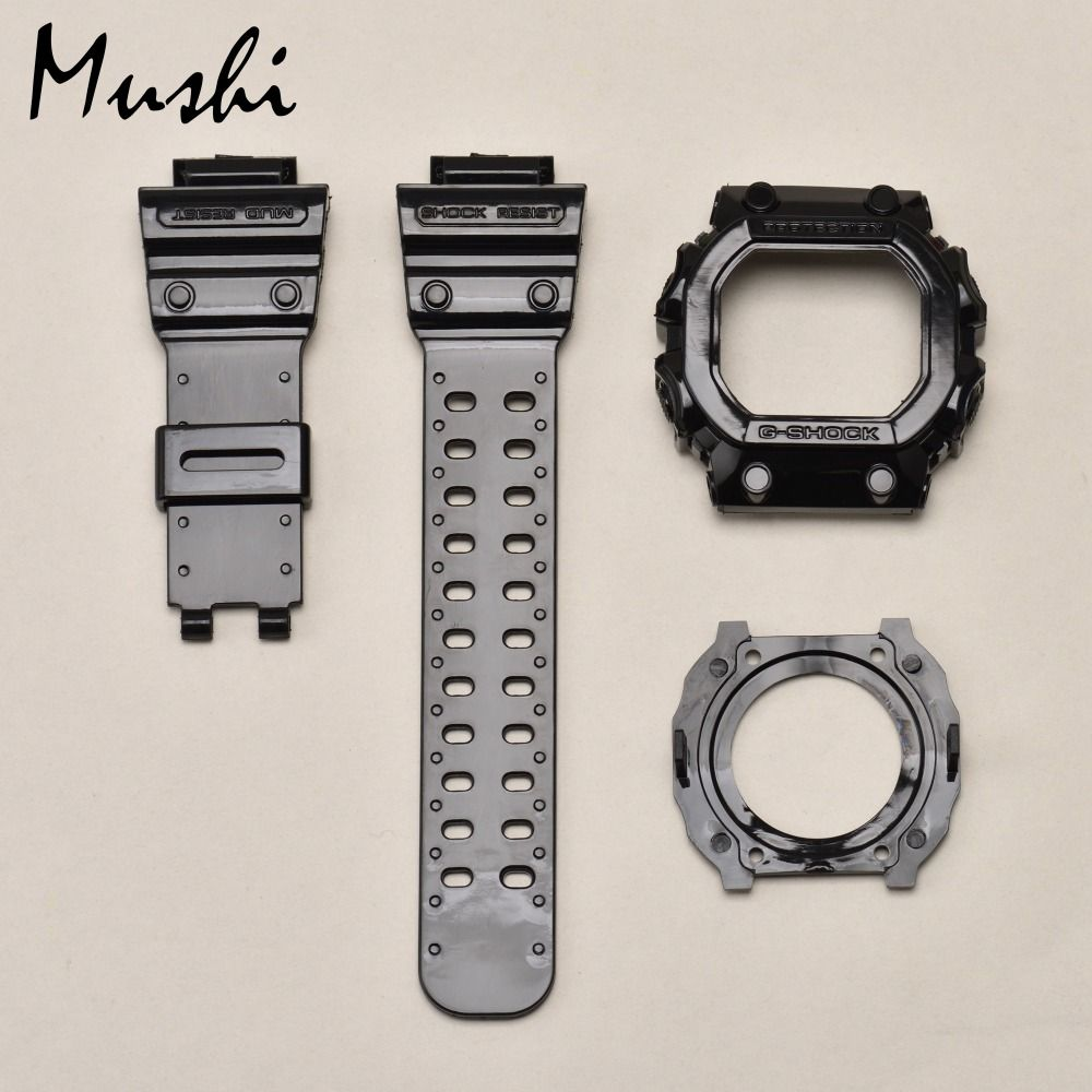 Mushi Watchbands Watch Strap Watch Case For Casio GX-56BB-1 g-shock Black Transparent Blue Yellow Red Green Watch Accessories