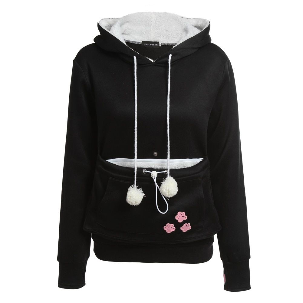 Cat <font><b>Lovers</b></font> Hoodies With Cuddle Pouch Dog Pet Hoodies For Casual Kangaroo Pullovers With Ears Sweatshirt XL Drop Shipping