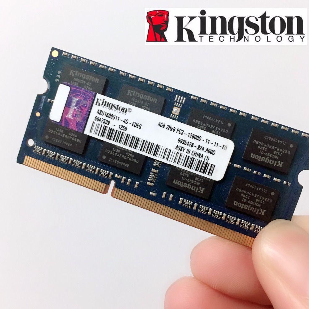 Kingston mémoire RAM Memoria Module ordinateur portable 4GB 2gb 8GB PC3 PC3L DDR3 1333 1600 MHZ 1333MHZ 1600 MHZ 10600 12800 10600S