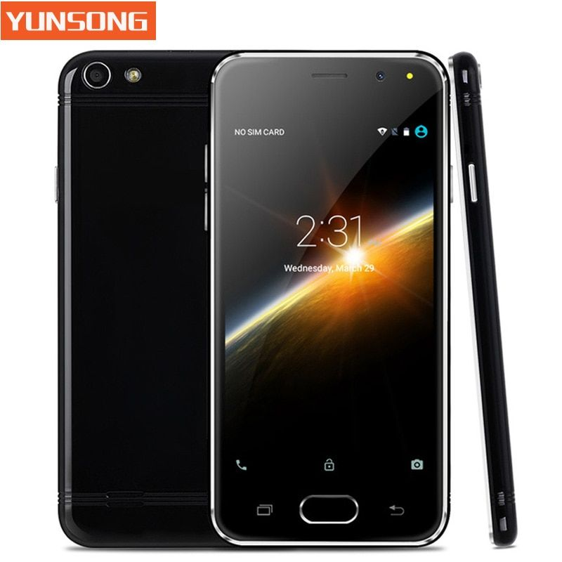 YUNSONG Mobile Phone 4.5 Inch Smartphone Android 5.1 MTK6580 Quad Core  Unlock Telephone Dual Sim Card WiFi GPS Cell Phone