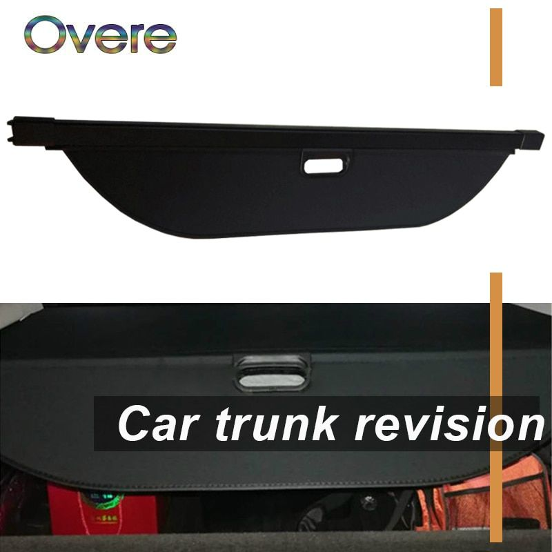 Overe 1Set Car Rear Trunk Cargo Cover For Land Rover Discovery 5 2017 2018 Styling Black Security Shield Shade Auto accessories