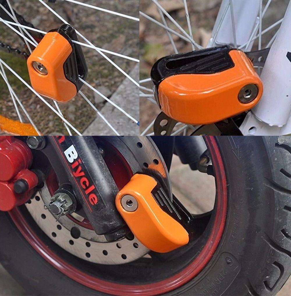 (US SHOP) 6mm Sicherheit Motorrad Fahrrad Alarm Robust Rad Scheibenbremse Sperre Fahrrad Sicherheit Alarm mit Batterie Und schlüssel