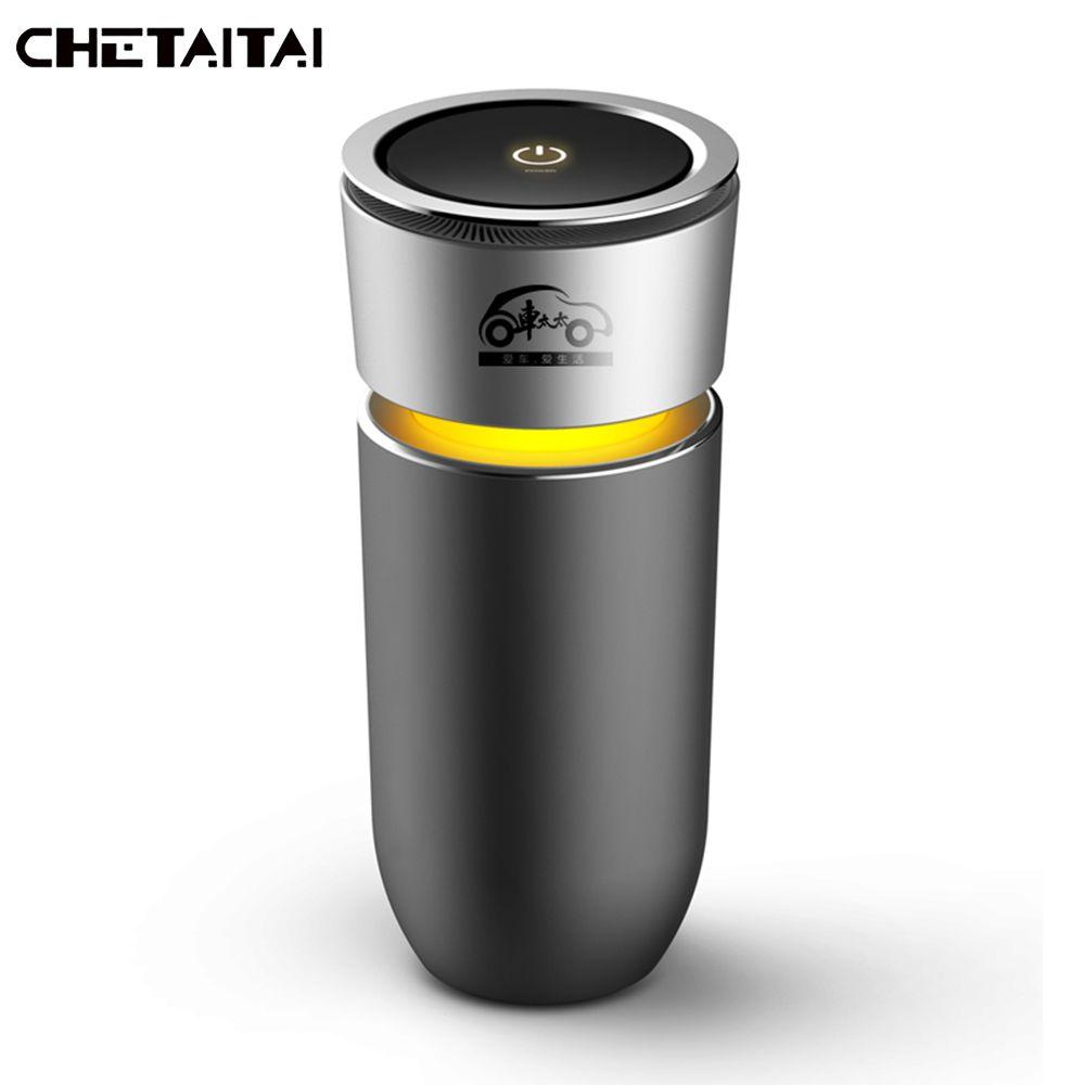 Chetaitai Cup Negative Ions Car Air Humidifier Air Purification Negative Oxygen Ion Car Air Humidifier  Mist Maker Car Freshener