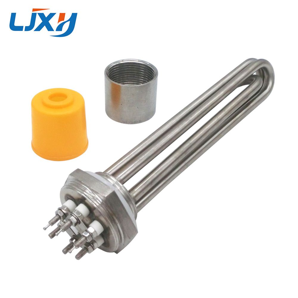 LJXH DN32 All Stainless Steel 304 Electric Immersion Water Heater Heating Element with 220V380V 3KW 4.5KW 6KW 9KW 12KW