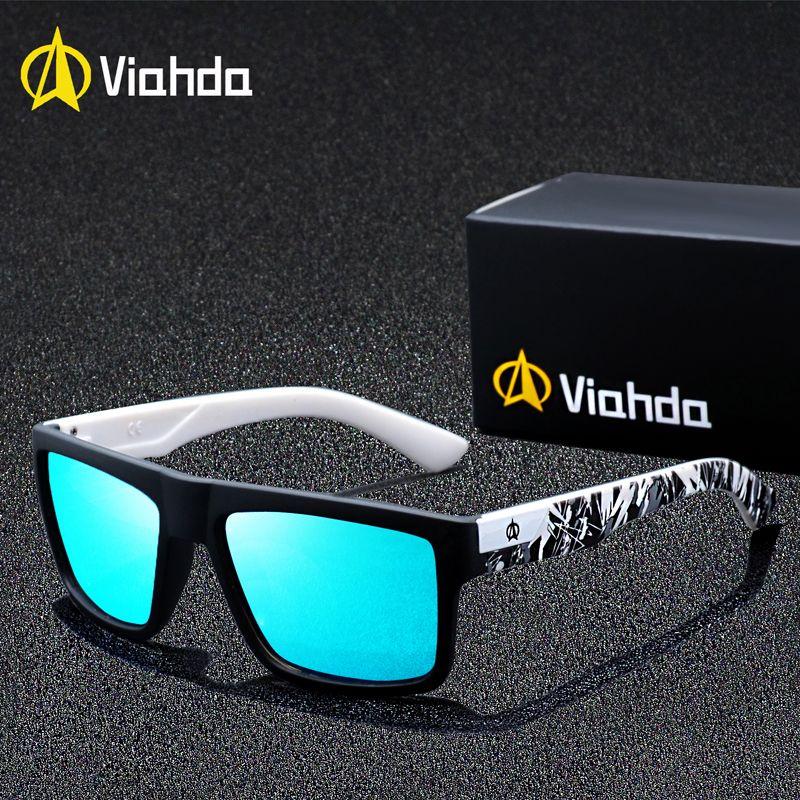 VIAHDA marque Design lunettes de soleil polarisées hommes pilote nuances mâle Vintage lunettes de soleil pour hommes Spuare miroir été UV400 Oculos