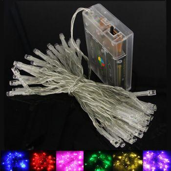 2 M 5 M 10 M 20 M LED Chaîne Lumières 3 * AA Batterie Exploité Étanche Fée LED De Noël lumières Pour Mariage de Fête De Vacances Décoration