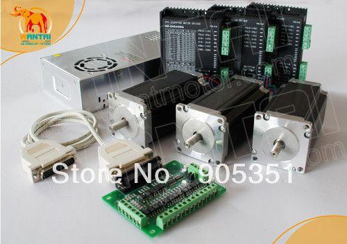 Livraison gratuite aux états-unis, haute 3 axes Nema23 étape motor428oz, 3A, arbre unique et contrôle de CNC du conducteur