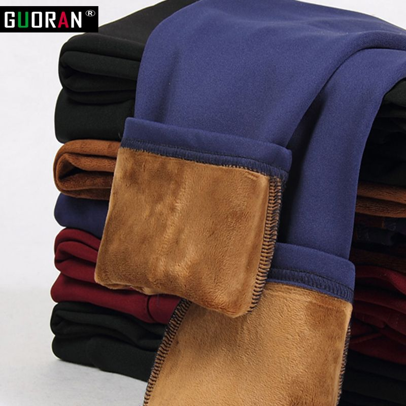 High waist women pants capri 2018 winter warm fleece <font><b>office</b></font> work pencil pants plus size ladies formal trousers pantalon femme