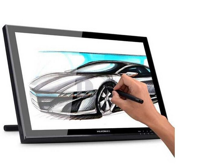Huion 19 Inches Pen Display Graphics Pen Drawing Monitor With Rechargeable Pen GT-190 with GIFTS( Screen Protector + Glove)