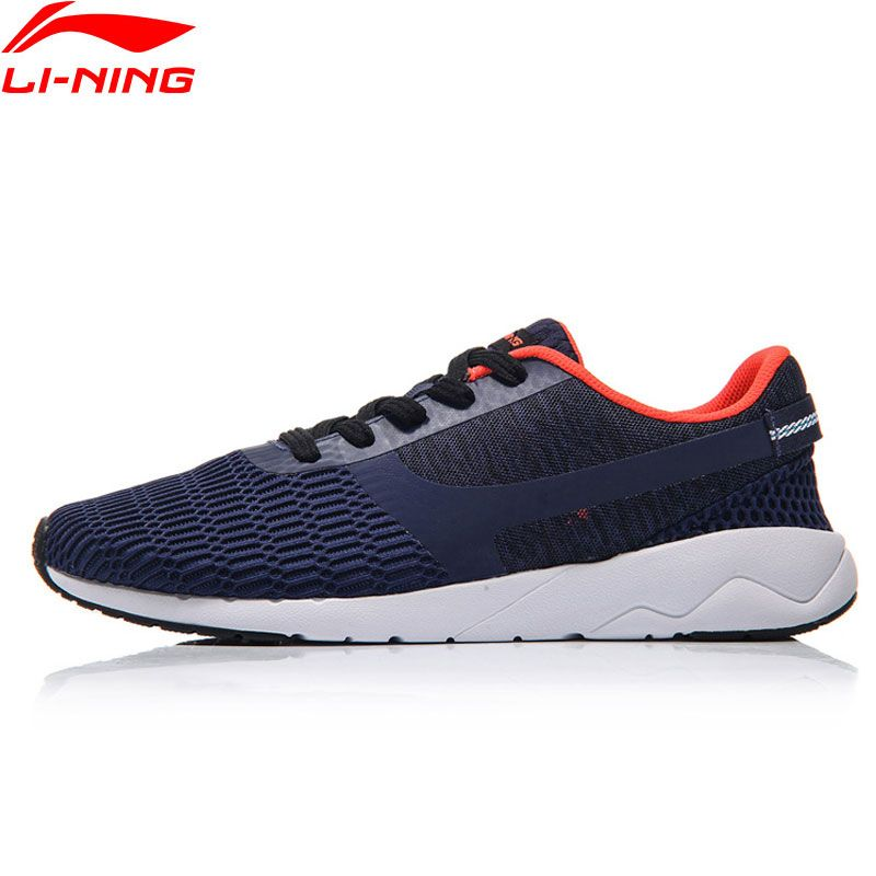 Li-Ning Sports Life Sneakers Men Walking Shoes Heather LiNing Sports Shoes Leisure Comfort Light AGCM041 YXB041