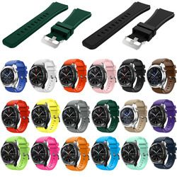 18 cores Borracha Faixas De Relógio de Silicone Alça de Pulso para Samsung Engrenagem S3 Fronteira 22 Engrenagem dois milímetros S3 Substituição Clássico Pulseira banda