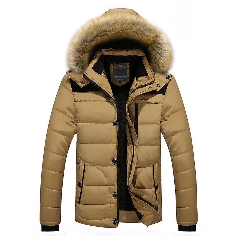 FIT -25 'C Brand Winter Jacket Men 2016 New Parka Coat Men Down Keep warm Fashion M-4XL 5XL 6XL