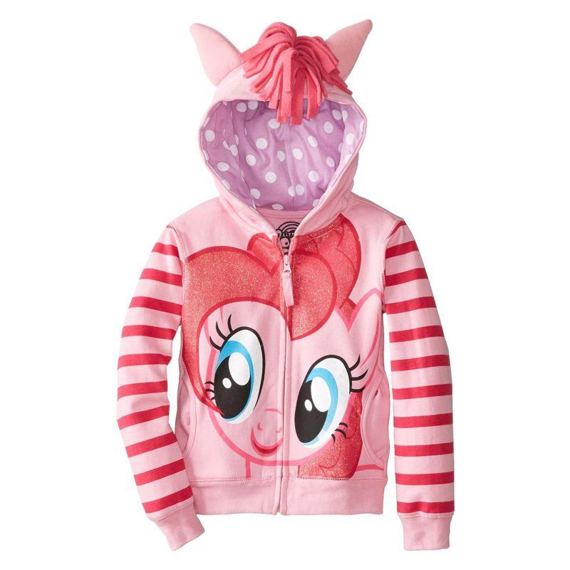 2017 nouvelles tendances au détail dans la mode dessin animé fille enfant fille veste grande taille poulain dessin animé chandail manteau coton vêtements