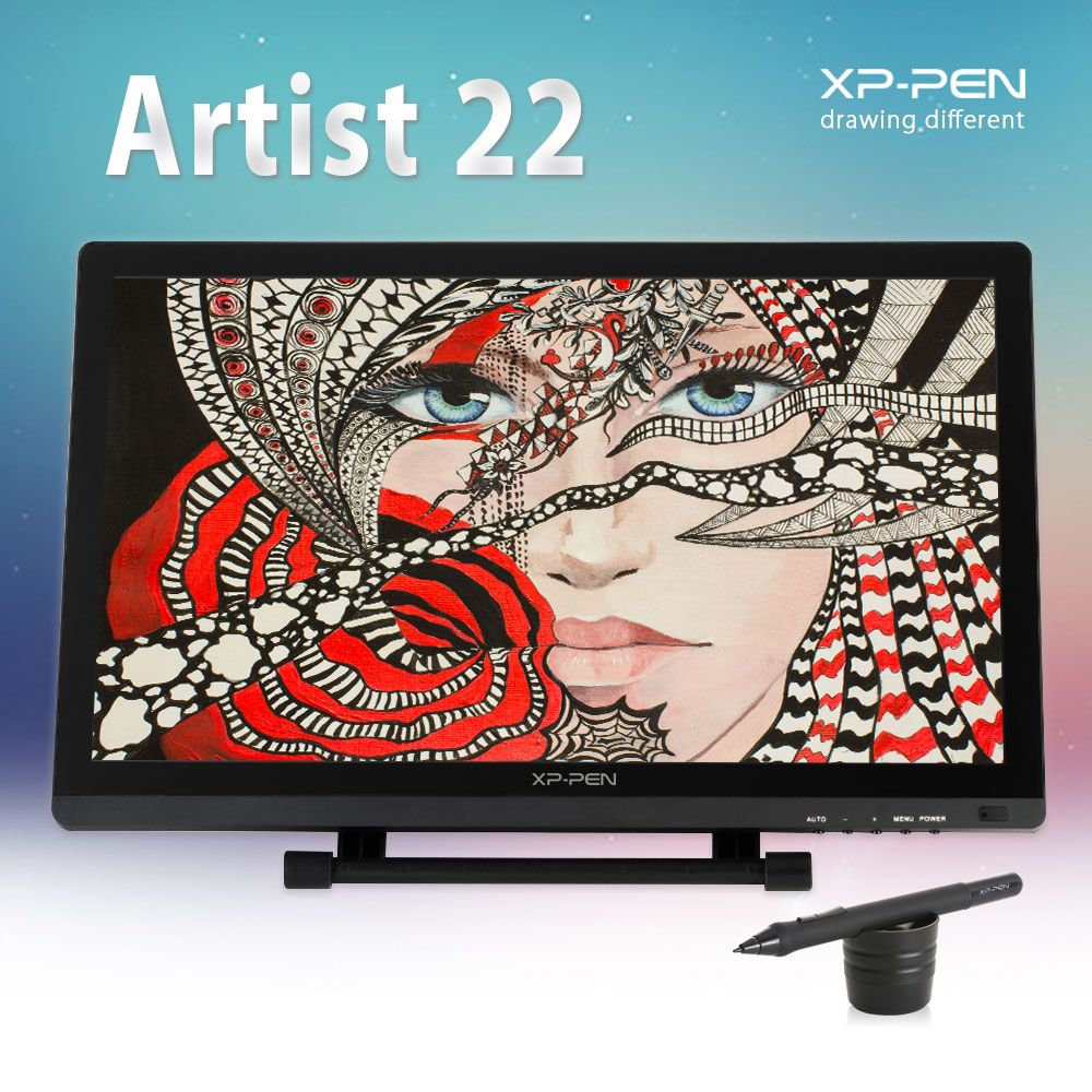 XP-Pen 22 HD Drawing tablet  IPS Interactive Monitor Full View Angle Extended Mode Display for Apple Macbook supporting HDMI