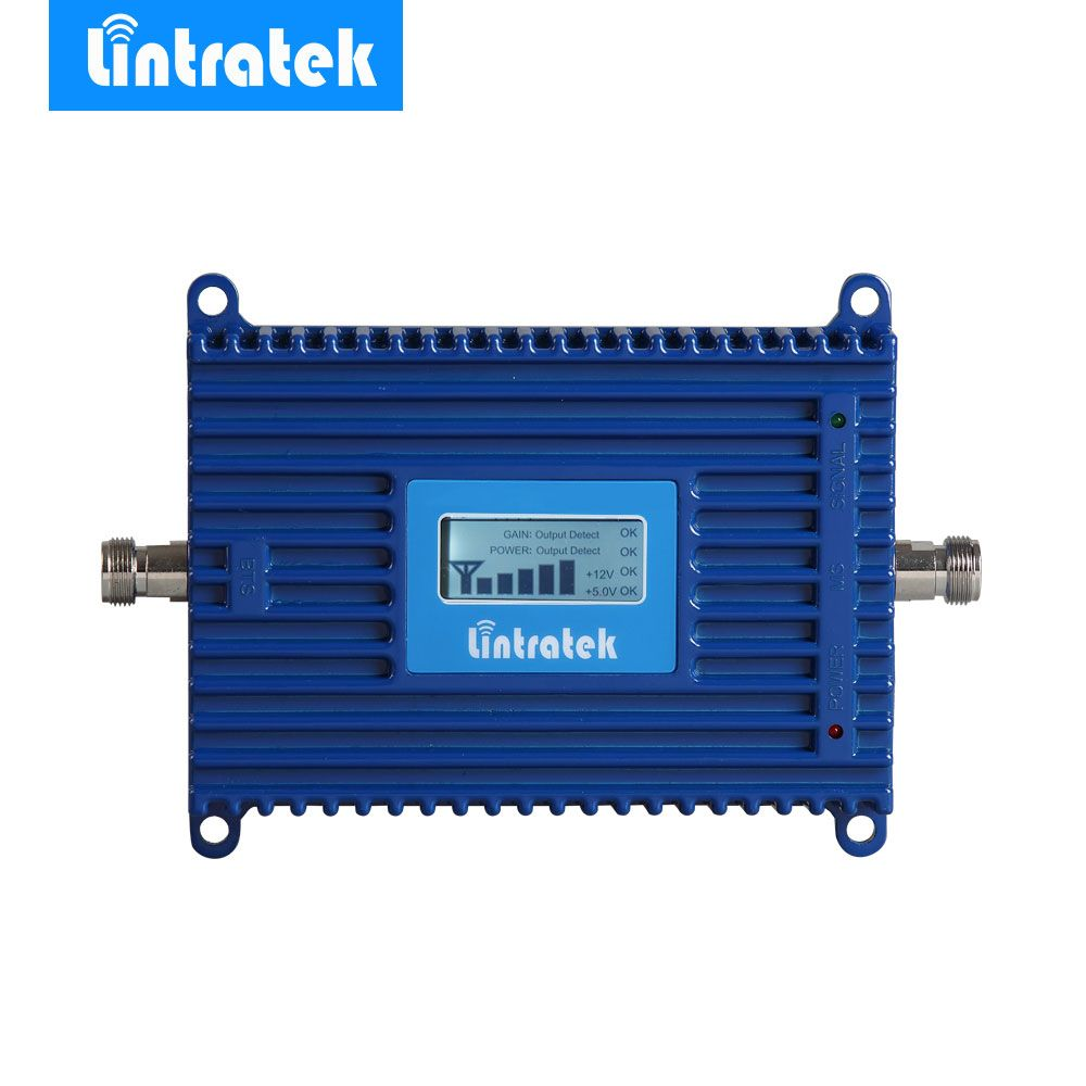 Lintratek 4G LTE Ampli Repeater LCD 4G 2600MHz Signal Booster 70dB Gain 2600 4G LTE Amplifier Mobile Phone Signal Repeater @