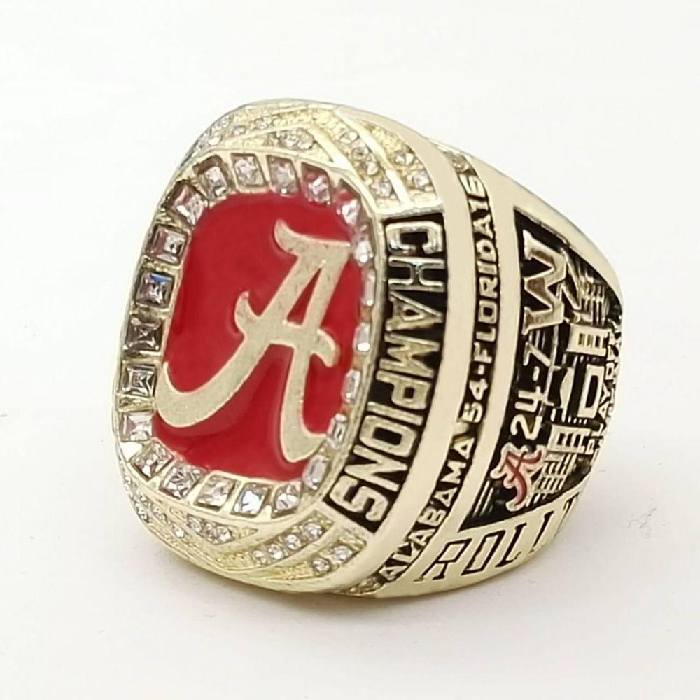 Free Shipping Good Quality 2016 Alabama Crimson Tide SEC Football Championship Ring Size 9 to 13