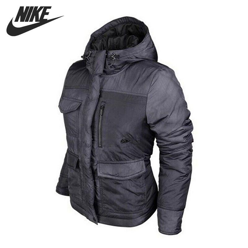 Original  NIKE  Women's Cotton-Padded jacket Hooded Sportswear