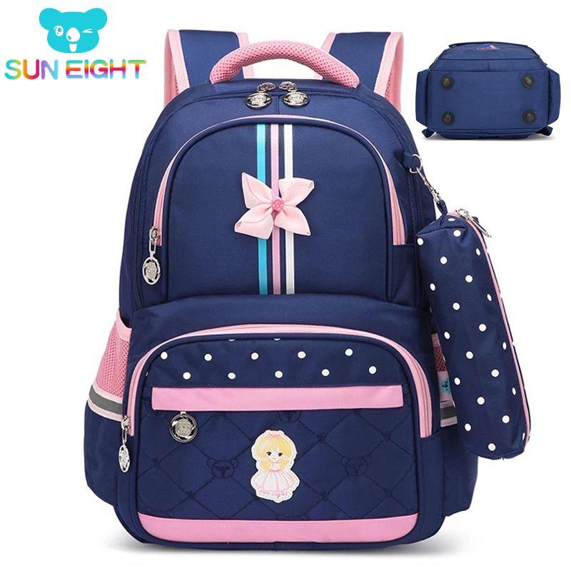 SUN EIGHT Orthopedic Unisex Children School Backpack School bags For Student Waterproof Backpack Kids School bag 2018 Wholesale