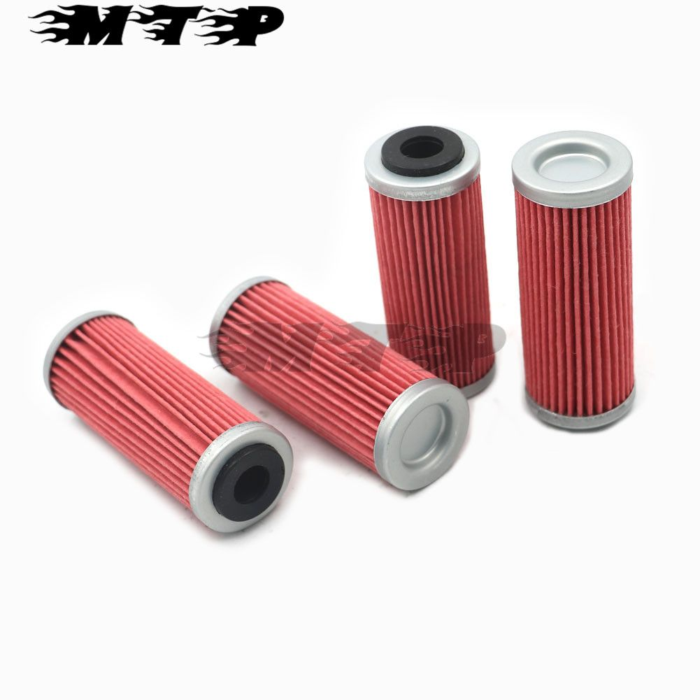 4x Motorcycle Oil Filter Intake Cleaner For KTM EXCF SXF XCF XCFW SMR XCW Six Days 350 400 450 505 530 Oil Filtration