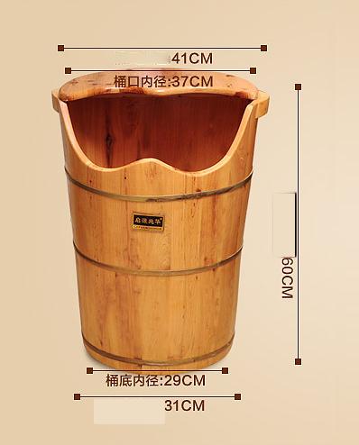 Hohe Dampf Dampf Fußbad Barrel Begasung Barrel Verdickt Beheizten Fuß Badewanne Massivholz Fußbad Pediküre