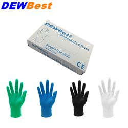 DEWBest Free shipping high quality Black Nitrile Gloves Disposable Nitrile Oil and Acis Wholesale Industrializationd Latex Glove