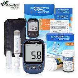 Microtech Medical diabetes diabética blood sugar detección Glucosa en sangre medidor glucómetro medidor de glicemia 50 tiras Agujas