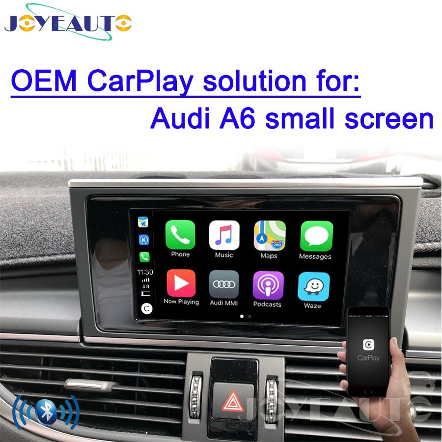 Aftermarket Adapter Multimedia A6 C7 MMI Small Screen OEM Wireless Apple CarPlay Solution Retrofit with Reverse Camera for Audi