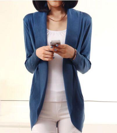 2016 ventes Chaudes nouveau automne hiver mode Femmes à manches longues Chandail Tricoté Cardigans survêtement châle Lady tricots Livraison gratuite